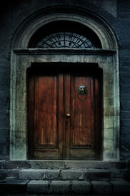 pic of entryway  - illustration of a dark haunted old mansion - JPG