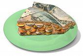 Slice Of Kronor Money Pie