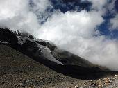 Monsoon Clouds Near A Himalayan Glacier