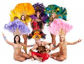 Beautiful carnival dancers in amazing costumes