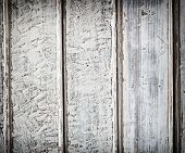 Old White Wood Plank Background