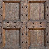 Detail Of Old Solid Wood Door