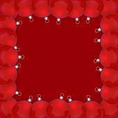 Frame with Christmas balls.