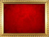 Frame with red wall background.