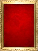 Frame with red background.