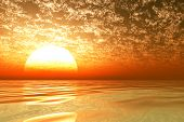 Big Golden Sunset