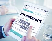 Digital Dictionary Investment Strategy Funding Concept