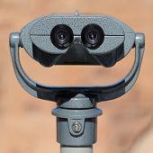 Largge Binoculars on Stand