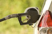 Buying Gasoline Close Up Shot
