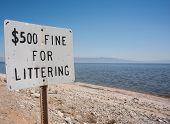 fine for littering sign