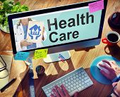 Online Healthcare Insurance Investment Concept