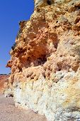 Spectacular cliffs on Senhora Da Rocha Nova BeSpectacular cliffs on Senhora Da Rocha ach in Portugal