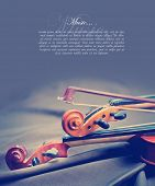foto of violin  - Classic music violin vintage close up - JPG