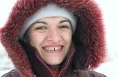 Woman In Her 40 S In Winter Clothes