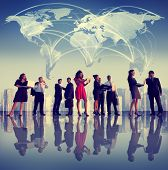 Business People Corporate Working Team Cityscape Concept