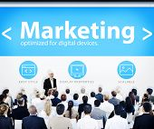 Business People Marketing Presentation Concept