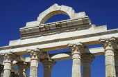 columns  of the Roman temple of Diana, Merida, Badajoz, Extremadura, Spain