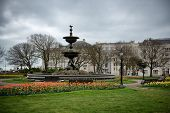 Cloudy Skies over Victoria Fountain in Old Steine Gardens, Brighton, England