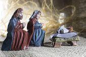 Handmade Christmas crib