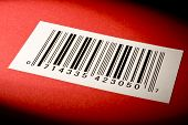 Bar Code On Textured Red Background
