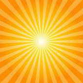Orange rays texture background illustration