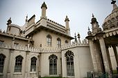 Close Up of Architectural Exterior of Brighton Royal Pavilion, Brighton, England