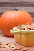 Roasted Pumpkin Seeds And Pumpkin