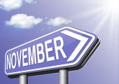 November fall or autumn next month or event schedule calendar