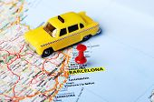 Barcelona ,spain Map and Taxi