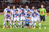 Sisaket Thailand-october 22: Players Of Air Force Central Fc. Pose For A Team Picture Prior To Thai