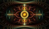 Abstract artistic conceptual fantasy digital illustration