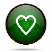 heart green internet icon