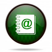address book green internet icon