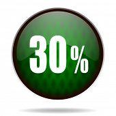 30 percent green internet icon