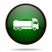 truck green internet icon