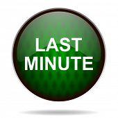 last minute green internet icon