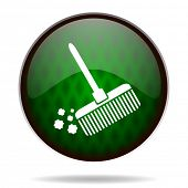 broom green internet icon