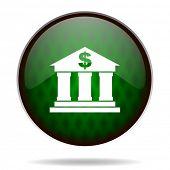 bank green internet icon