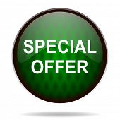 special offer green internet icon
