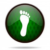 foot green internet icon
