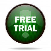 free trial green internet icon