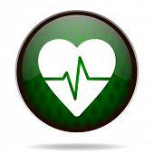 pulse green internet icon