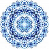 Clipart Watercolor Lace. Doily round lace pattern