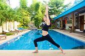 Asian Girl Practicing Yoga