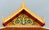 Buddhist Temple Roof Detail In Thailand.