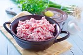 pig ground beef for meatballs