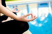 Yoga Meditation Hand By Pool