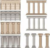ilustrações de vetor de pilares e colunas