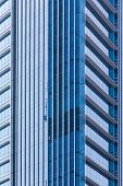Blue office windows background