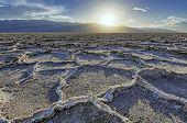 Lake Badwater, Desert in Death Valley.